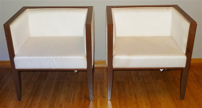 Outstanding Details About Pair Costantini Pietro Mid Century Modern Yale Cube Lounge Chairs Gmtry Best Dining Table And Chair Ideas Images Gmtryco