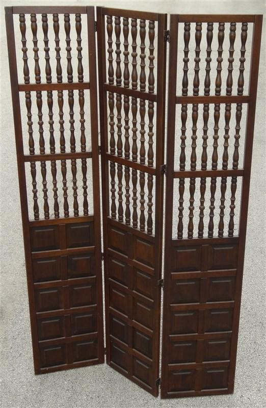 Excellent 1960S 1970S Mcm Mid Century Walnut Wood Spindle Folding Interior Design Ideas Tzicisoteloinfo