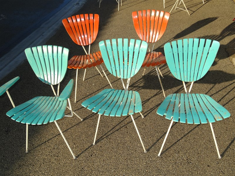 Details About Rare Arthur Umanoff 5 Chairs 1950s 1960s Mid Century Modern Porch Furniture