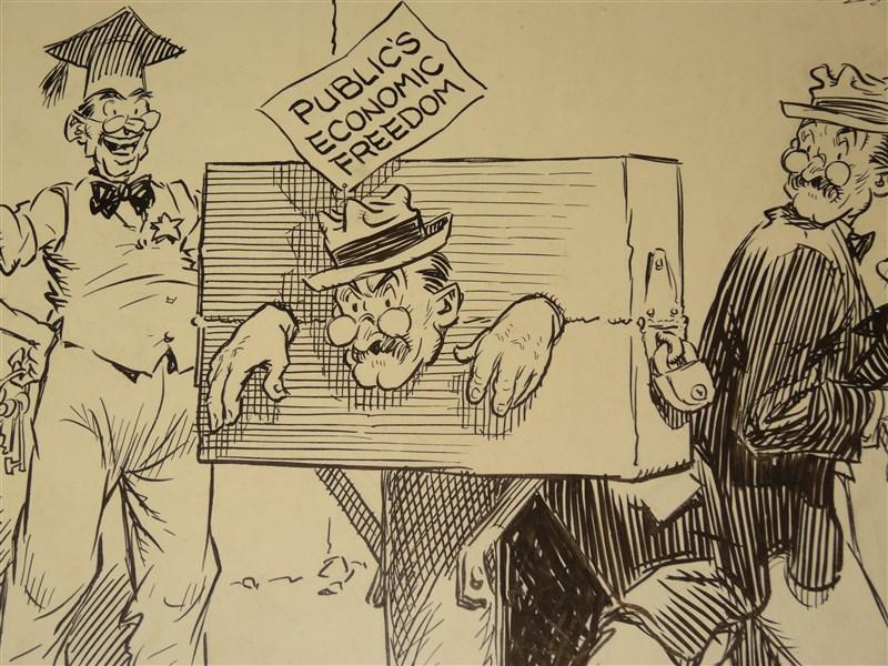 Details about 1940s ORIGINAL ART Political Cartoon
